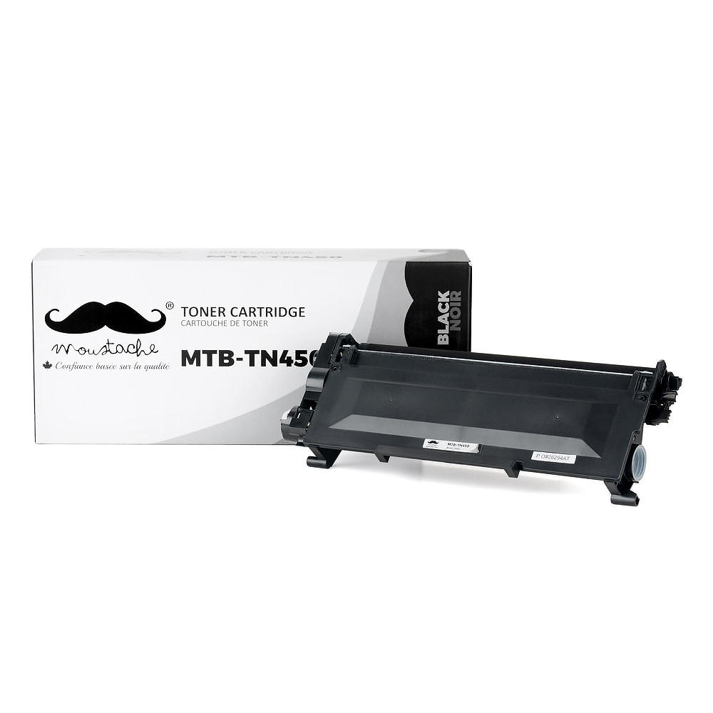 Brother TN450 Compatible Black Toner Cartridge High Yield - Moustache®
