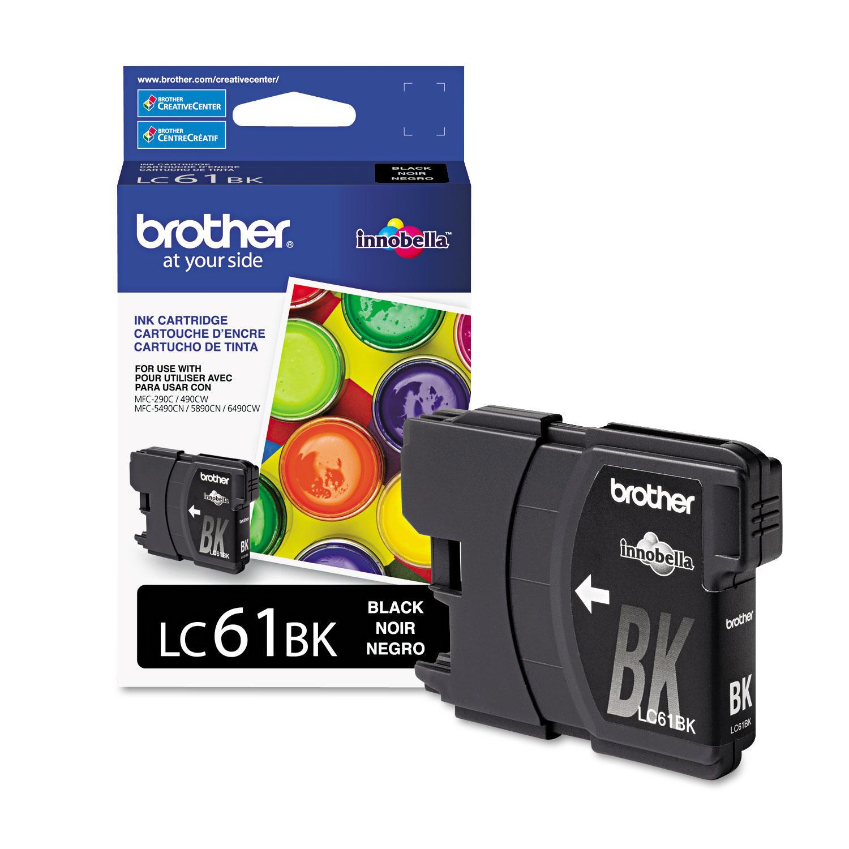Brother LC61BK Original Black Ink Cartridge