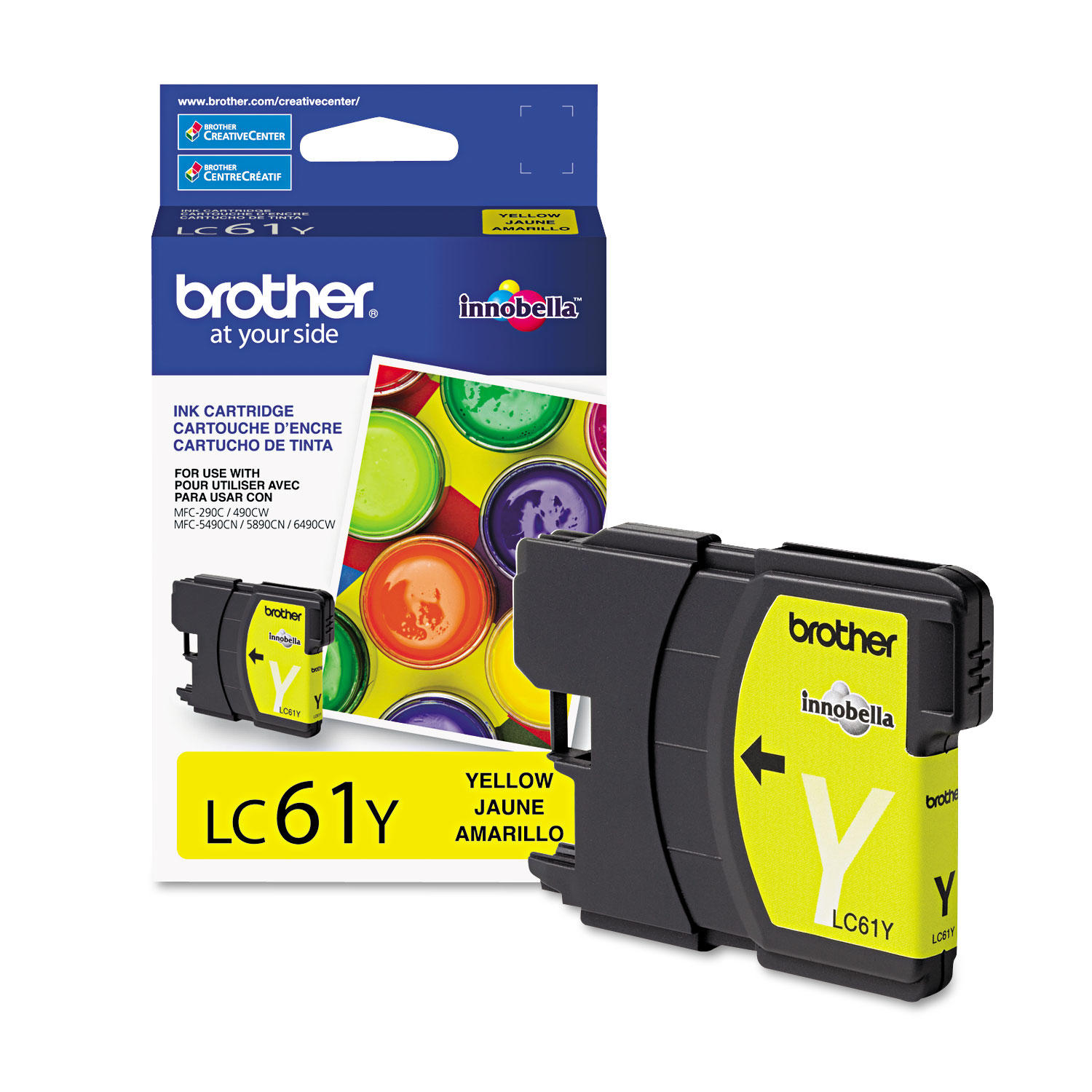 Brother LC61Y Original Yellow Ink Cartridge