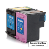 Remanufactured HP 61XL Black and Tri-Color Ink Cartridge Combo High Yield - Economical Box