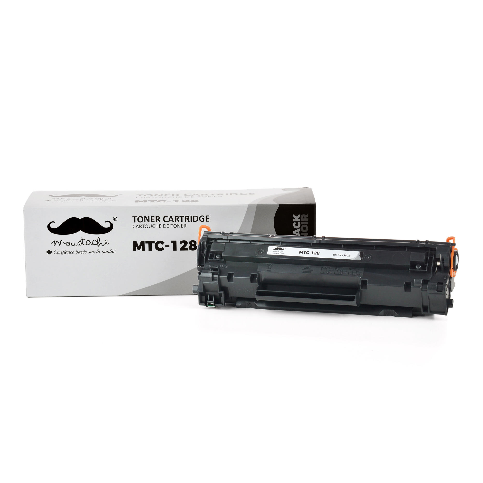 Canon 128 3500B001AA Compatible Black Toner Cartridge - Moustache®
