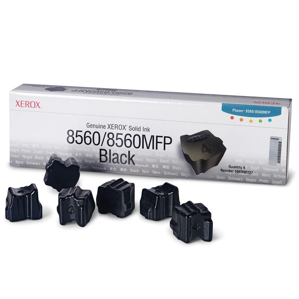 Xerox 108R00727 Original Black Solid Ink Sticks - 6 Sticks/Pack