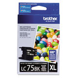 Brother LC75BK Original Black Ink Cartridge High Yield