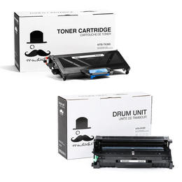 Brother TN360 DR360 Compatible Black Toner Cartridge and Drum Combo