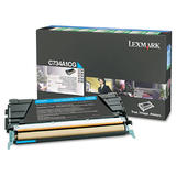 Lexmark C734A1CG Original Cyan Return Program Toner Cartridge