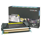 Lexmark C734A1YG Original Yellow Return Program Toner Cartridge