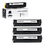 Compatible HP 128A Toner Cartridge Combo BK/C/M/Y - Moustache®