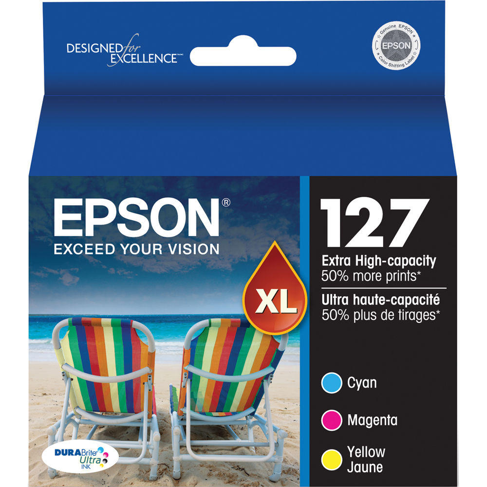 Epson T127520 Original Colour Ink Cartridge Combo Extra High Yield C M Y
