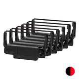 Epson ERC34 Compatible Black and Red Ribbon - 6/Pack