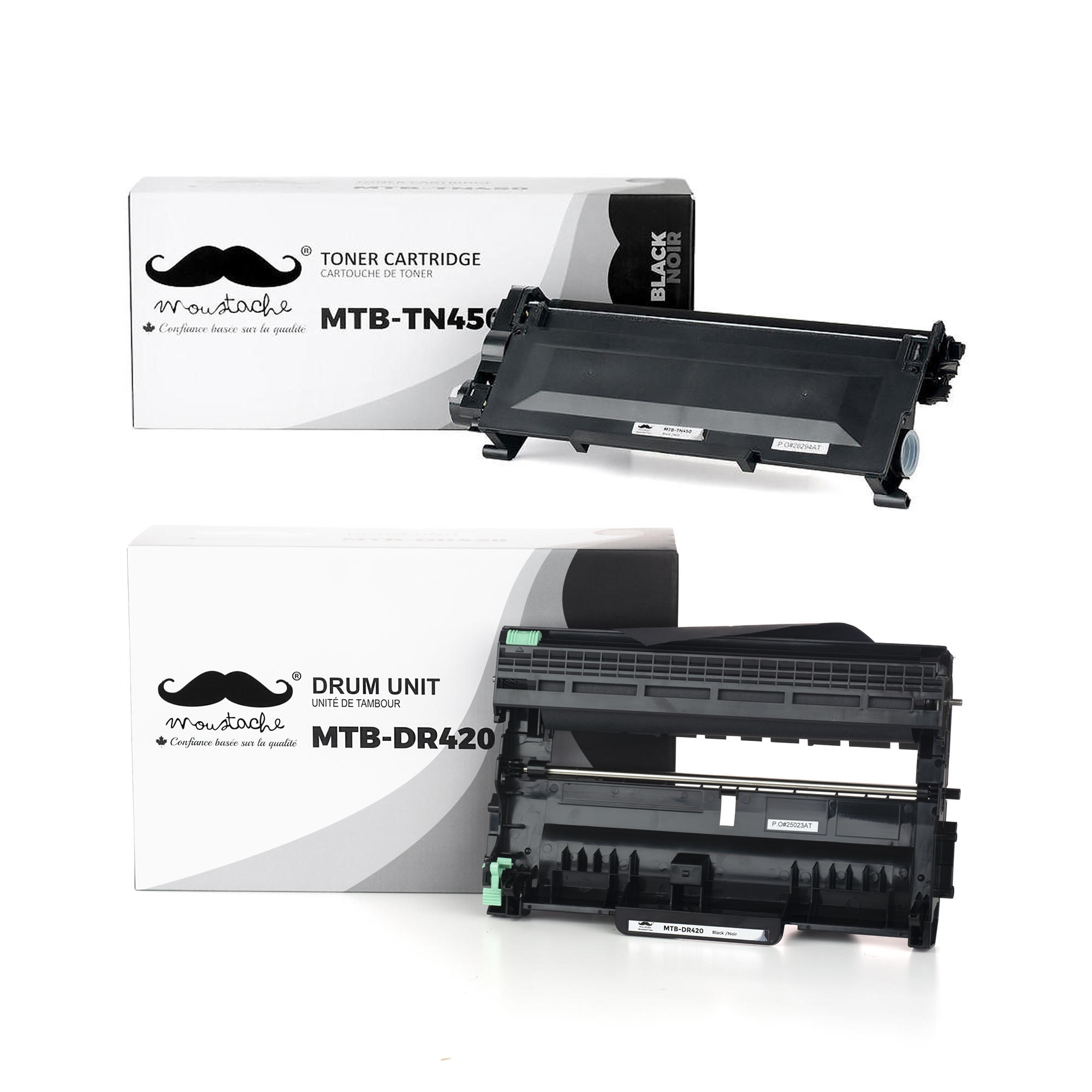 Brother TN450 DR420 Compatible Toner Cartridge and Drum Combo - Moustache®