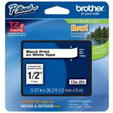 Brother TZe-231 Original Label Tape, 12mm(0.47''), Black on White
