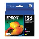 Epson 126 T126520 Original Colour Ink Cartridge Combo High Yield C/M/Y