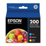 Epson 200 T200520 Original Color Ink Cartridge Combo C/M/Y