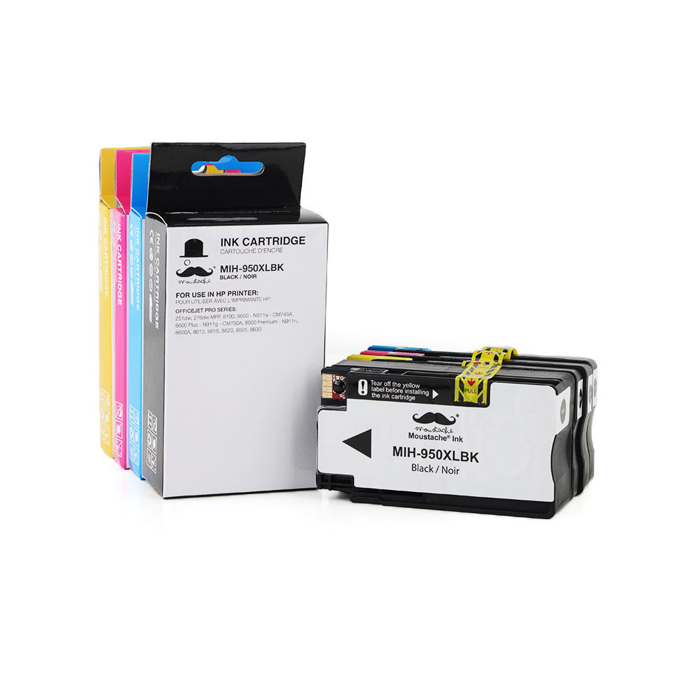 Compatible HP 950XL HP 951XL Ink Cartridge Combo High Yield BK/C/M/Y - Moustache®