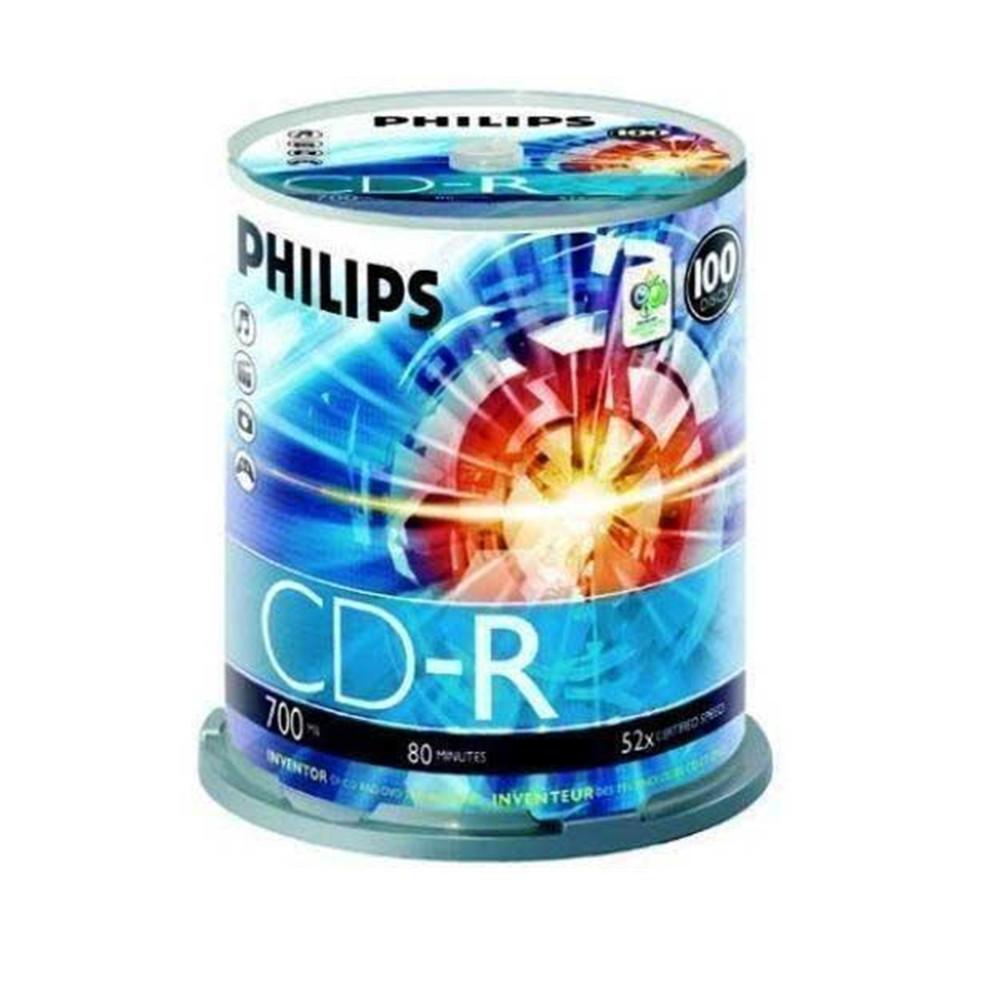 PHILIPS CD-R 100 PK,700MB,52X