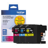 Brother LC1033PKS Original Color Ink Cartridge Combo High Yield C/M/Y