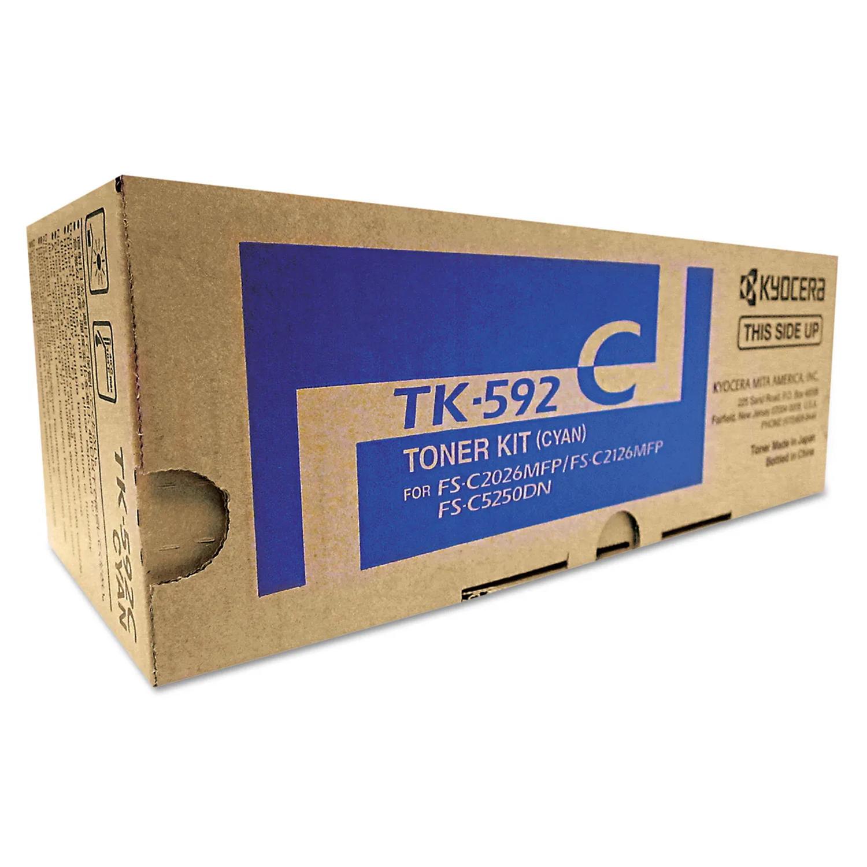 Kyocera-Mita TK592 TK-592C originale Cyan Toner Cartridge