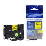 """Brother TZe-651 Label Tape, 24mm (0.94""""), Black on Yellow, Compatible"""