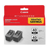 Canon PG40 Original Black Ink Cartridge Twin Pack