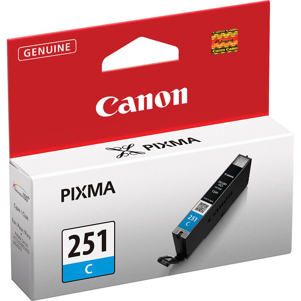 Canon CLI-251C Original Cyan Ink Cartridge (6514B001)