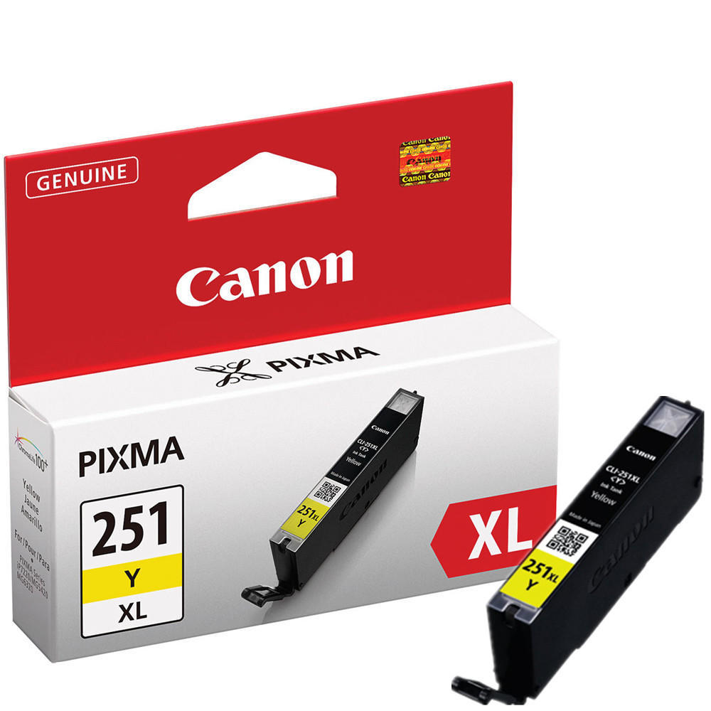 Canon CLI-251XLY 6451B001 Original Yellow Ink Cartridge