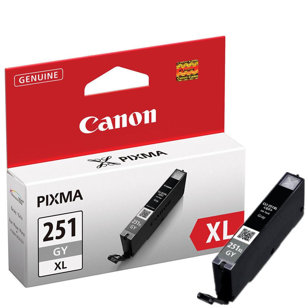 Canon CLI-251XLG 6452B001 Original Gray Ink Cartridge