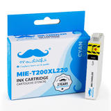 Epson 200 T200XL220 Compatible Cyan Ink Cartridge High Yield - Moustache®