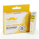 Epson 200 T200XL420 Compatible Yellow Ink Cartridge High Yield - Moustache®