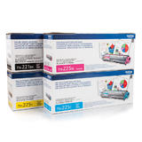 Brother TN221 TN225 Original Toner Cartridge Combo