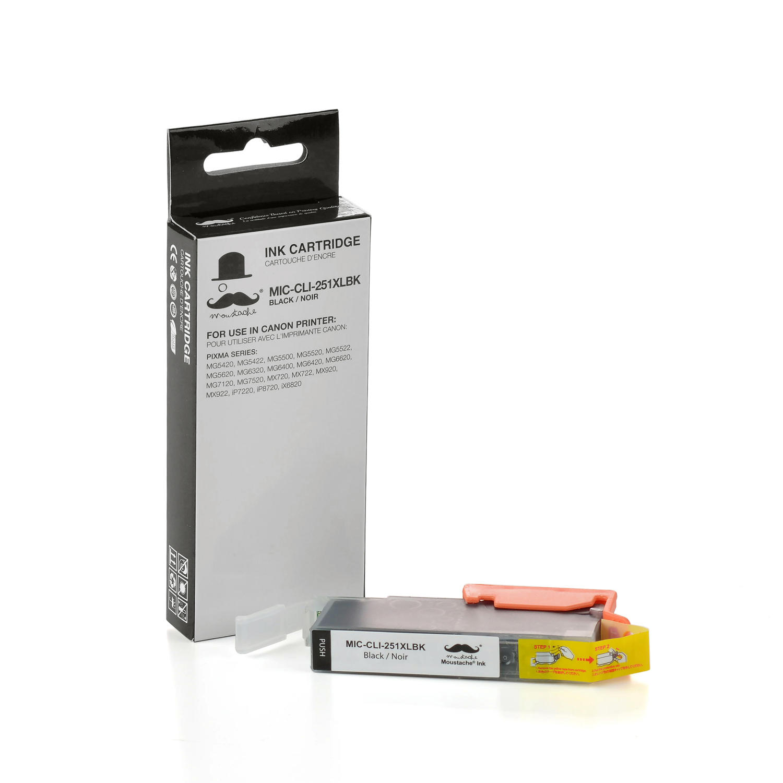 Canon CLI-251XLBK 6448B001 Compatible Black Ink Cartridge - Moustache®