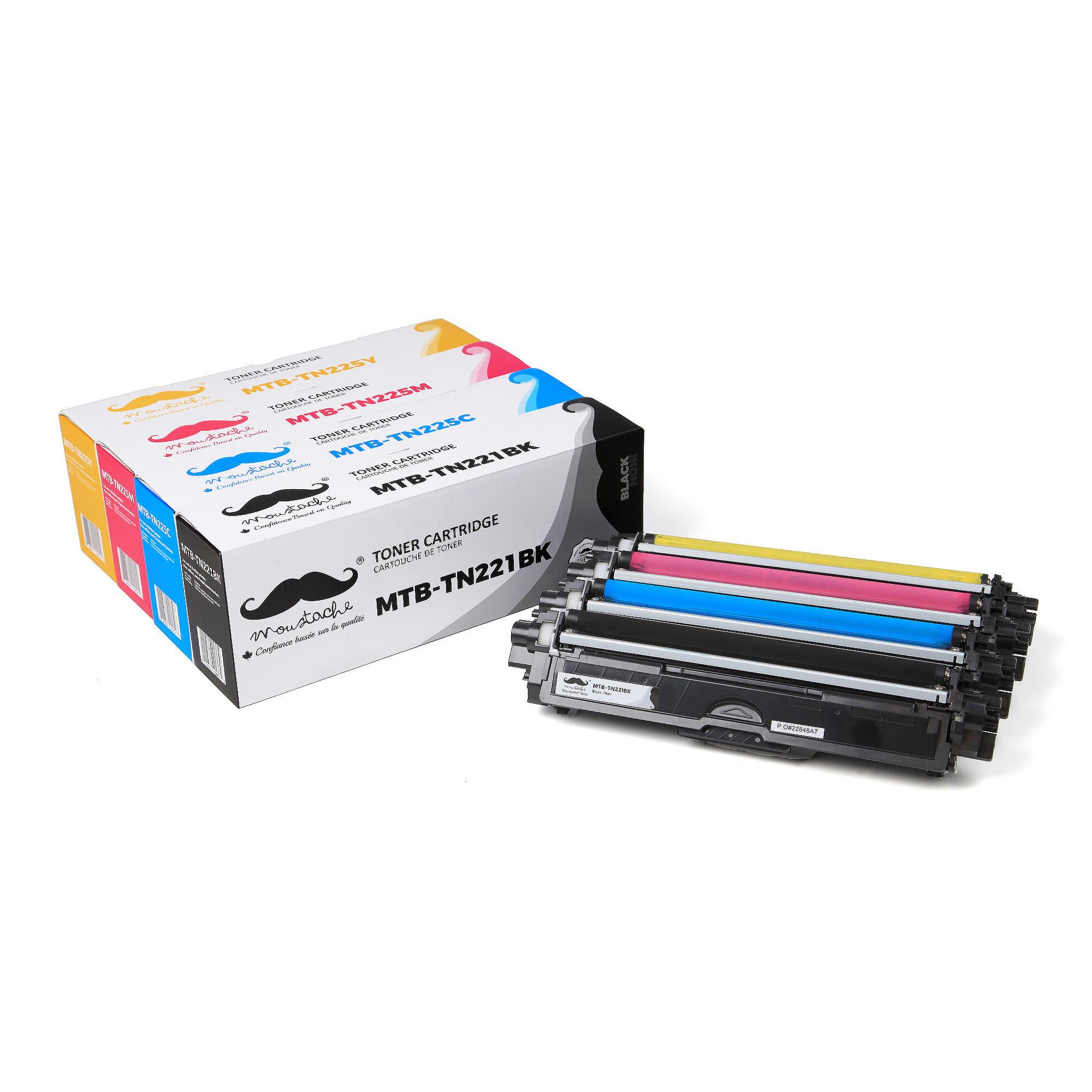 Brother TN-221BK TN-225 C/M/Y Compatible Toner Cartridge Combo - Moustache®