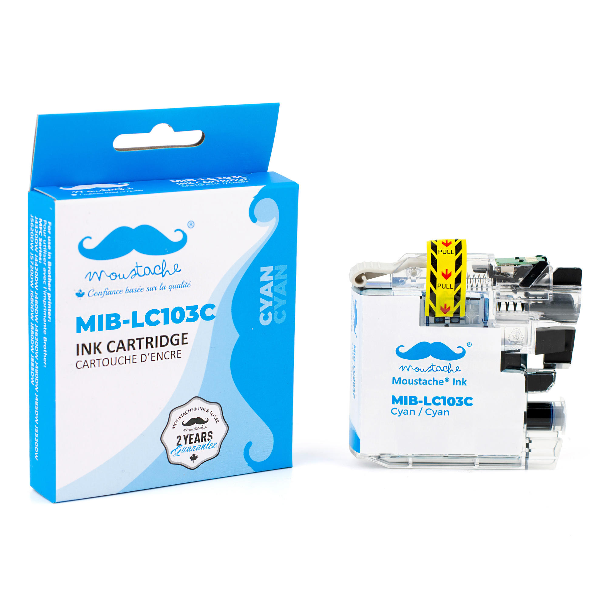 Brother LC103C Compatible Cyan Ink Cartridge High Yield - Moustache®