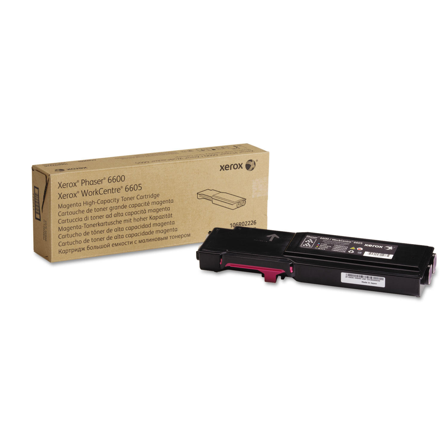Xerox 106R02226 Original Magenta Toner Cartridge High Yield For Phaser 6600 WorkCentre 6605 Printer