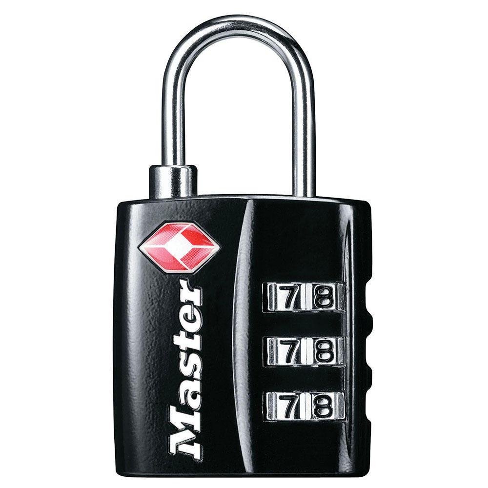 Master Lock Combination TSA-Accepted Luggage Lock, Black