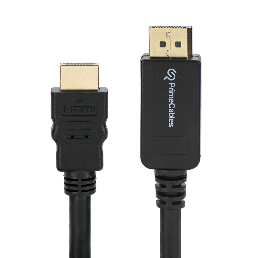 PrimeCables DisplayPort to HDMI Adapter Cable M|M 3ft, Black