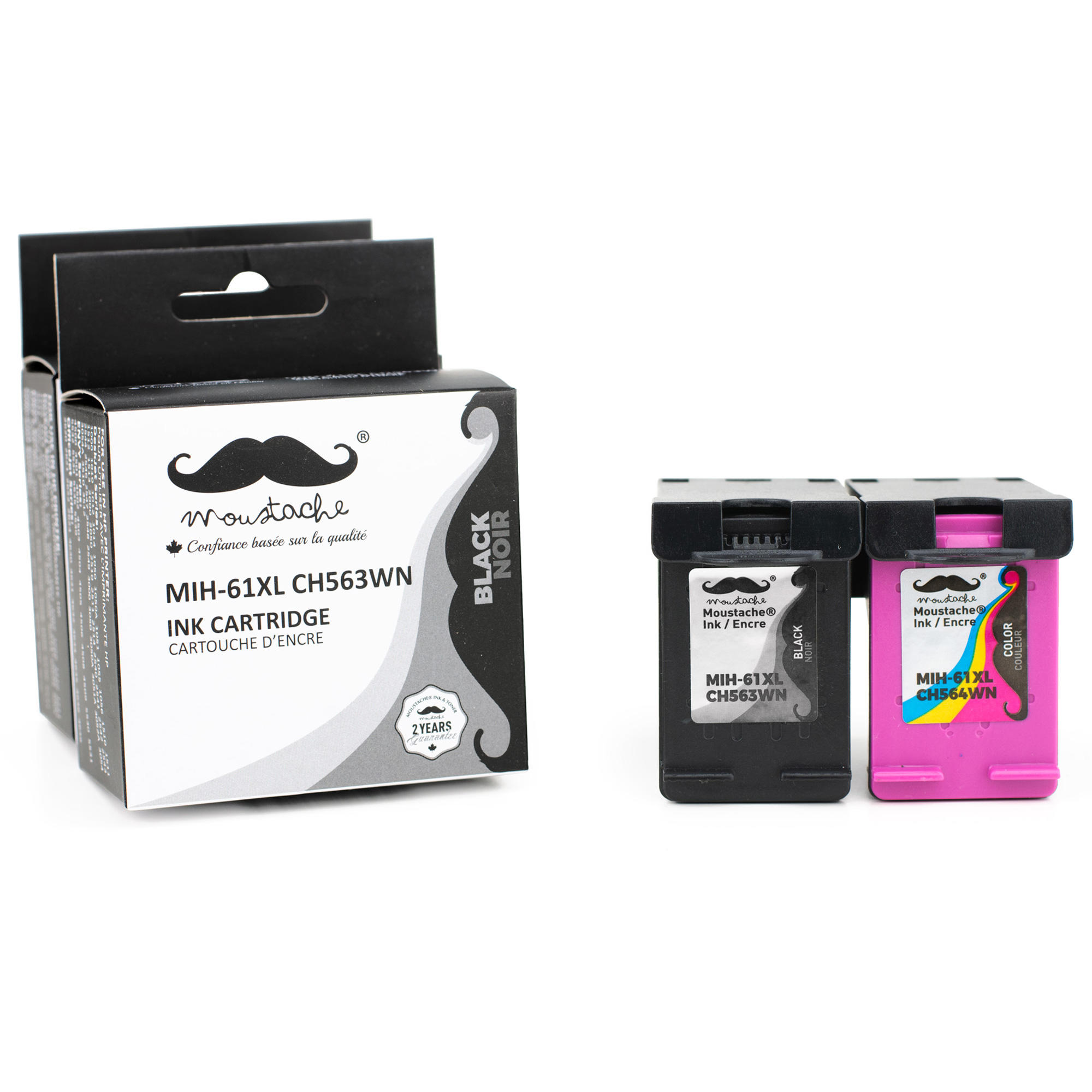 Remanufactured HP 61XL Ink Cartridge Combo High Yield - Moustache®