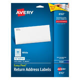 Avery® 8167 Easy Peel™ White Return Address Labelsfor Inkjet Printer