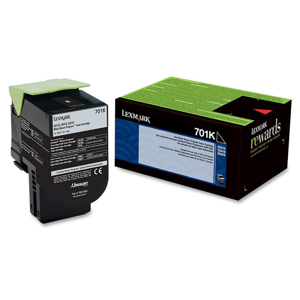 Lexmark 701K 70C10K0 Original Black Return Program Toner Cartridge