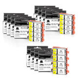 Canon PGI35BK CLI36C Compatible Ink Cartridge Combo - 12/Pack - Moustache®