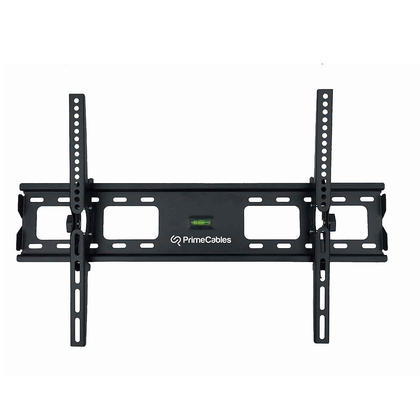 heavy duty tilt wall mount bracket wsafety lock for tv to inch primecables