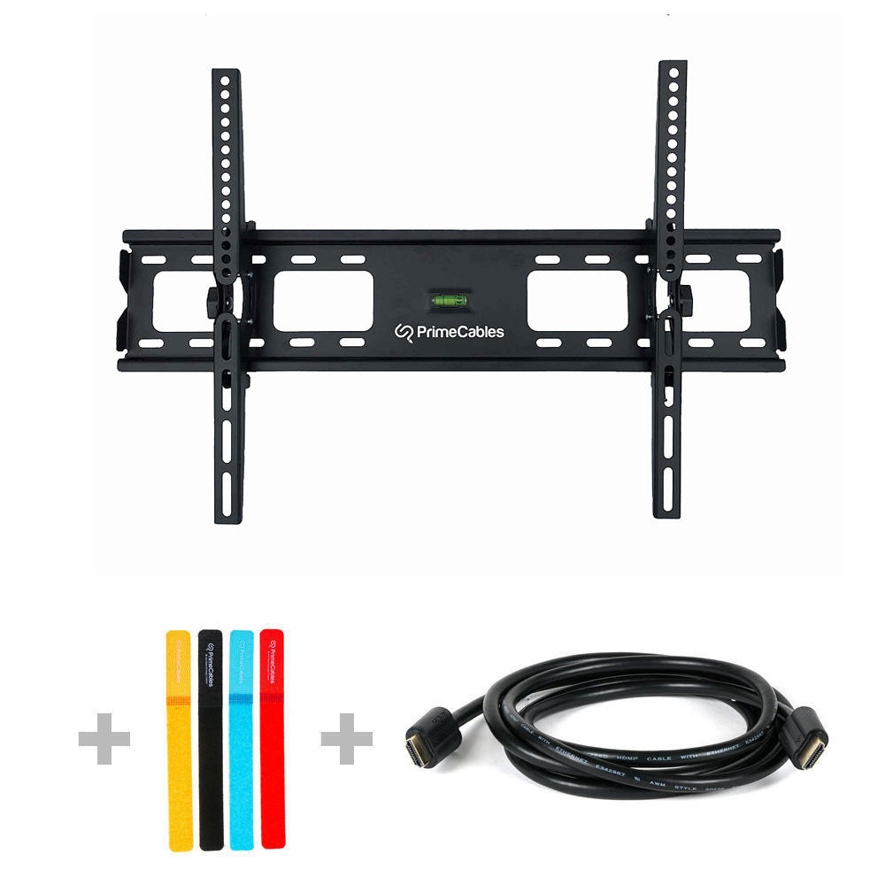 "3 in 1 Tilt TV Wall Mount for TV 37""""- 70"""" with 6ft HDMI Cable & Fastening Ties- PrimeCables"" Cab-PLB-33L-All3"