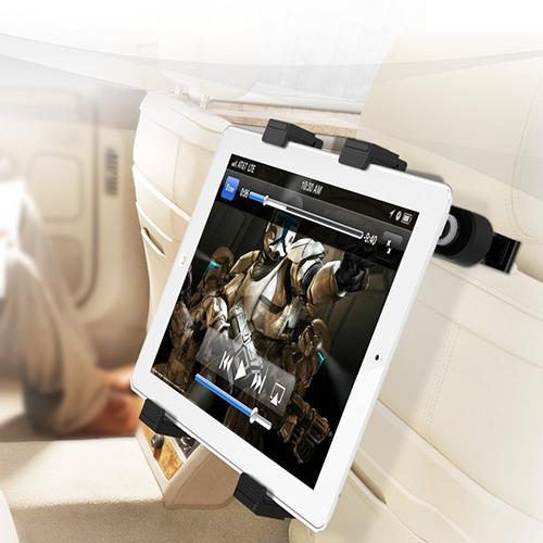 Universal Adjustable Hands-Free Car Mount Holder Kit for tablet - PrimeCables Cab-TabU-CHKit