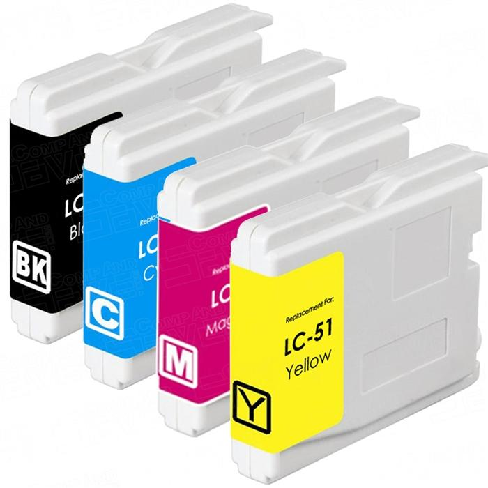 Brother LC51 Compatible Ink Cartridge Combo BK/C/M/Y - Economical Box