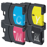 Brother LC61 Compatible Ink Cartridge Combo BK/C/M/Y - Economical Box