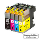 Brother LC103 Compatible Ink Cartridge Combo BK/C/M/Y - Economical Box