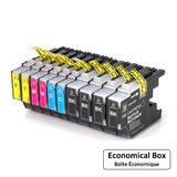 Brother LC75 Compatible Ink Cartridge Combo BK/C/M/Y High Yield - 10/Pack