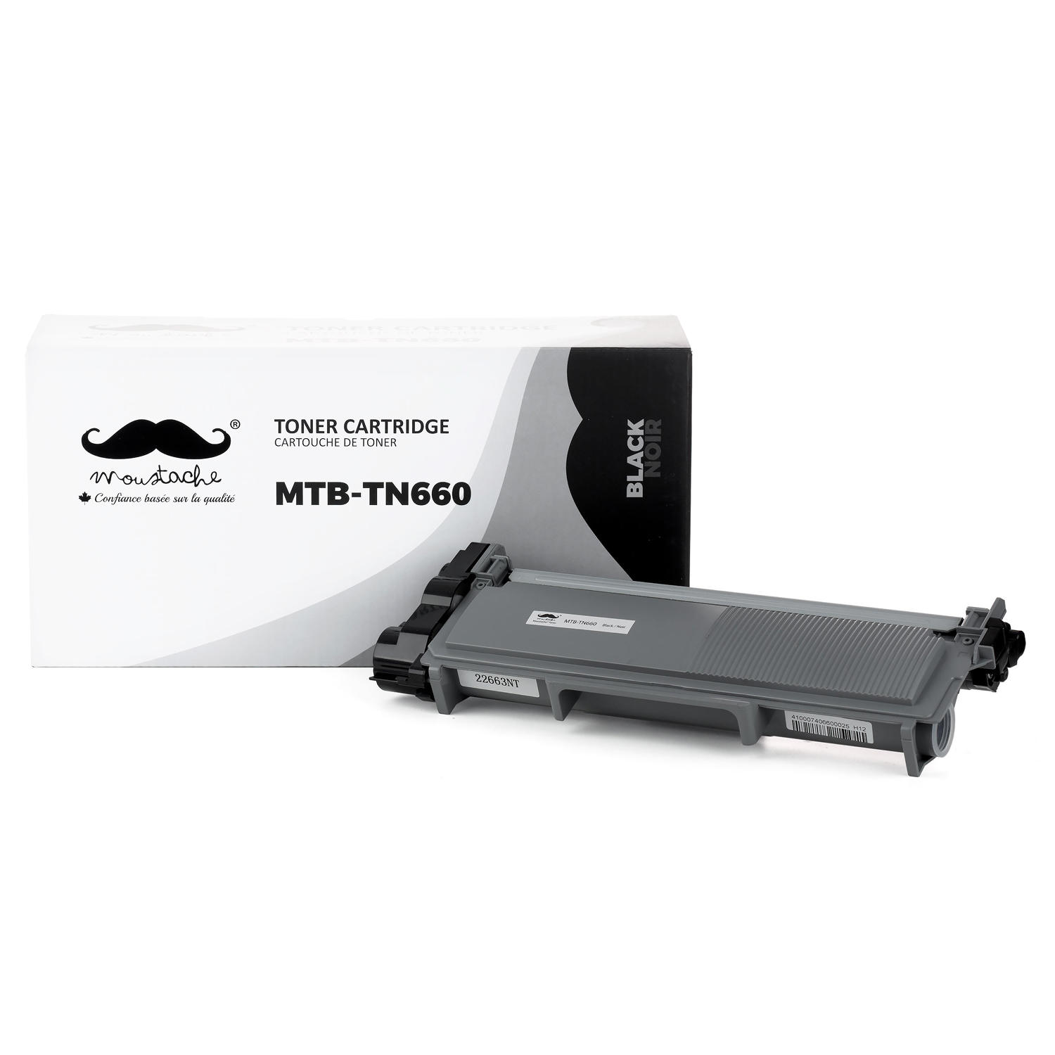 Brother TN-660 Compatible Black Toner Cartridge High Yield - Moustache®