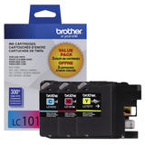 Brother LC101 Original TriColour Ink Cartridge Combo