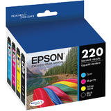 Epson T220 T220120-BCS Original Black & Color Ink Cartridge Combo