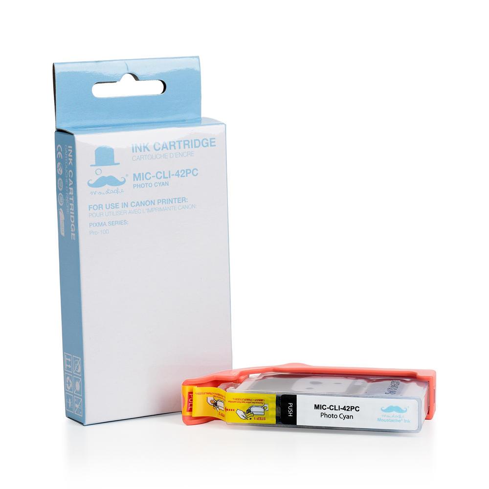 Canon CLI-42PC Compatible Photo Cyan Ink Cartridge (6388B002) - Moustache®